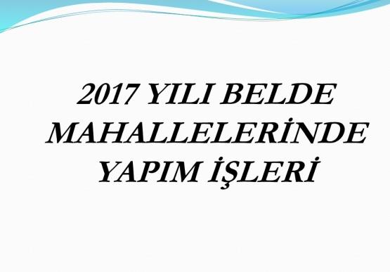 Gümeli Belediyesi 2017 yılı faaliyet raporu